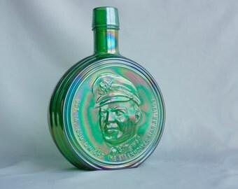 Wheaton Carnival Glass Commemorative Bottle - Wheaton Carnival Glass Decanter - Dwight D Eisenhower Decanter - Carnival Glass Decanter