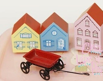 Free Worldwide Shipping! Wooden House Stamps!