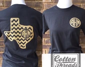 Texas Chevron  Monogrammed T-Shirt can be made in ANY STATE!