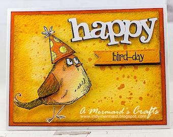 Happy Bird-Day Crazy Bird Birthday Card