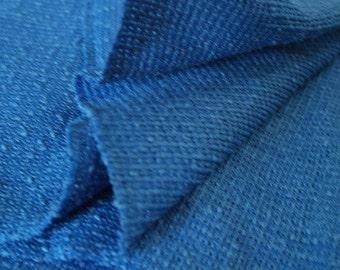 Blue Natural Slub Open Weave Fabric- Perfect for Costumes, Renaissance Fair, Medieval