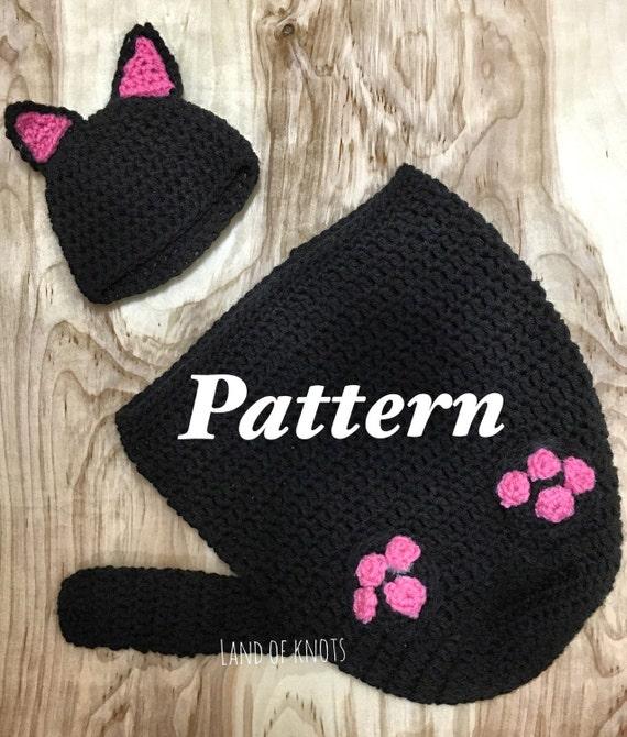 Crochet Cat Baby Cocoon Pattern : PATTERN crochet cat swaddle pattern cable crochet pattern