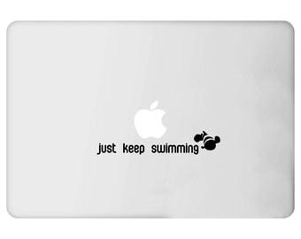 Just Keep Swimming Finding Nemo Dory Decal - Car - Mac - Mug