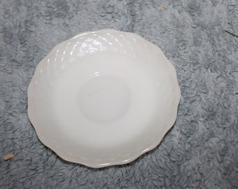 Vintage one Small Plate, Milk Glass, Oven Proof, Anchor Hocking, Made in USA, The Anchor Hocking Symbol is also on the Back, Great Find