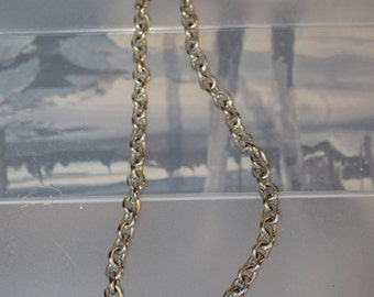 A Heavy Chain Necklace,  Jewelry, Fashion Accessory, Durable, Vintage, 18 Inches Long, , Fashion Statement Perfect Gift, Add Charms To It