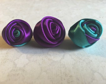 Little rolled up rose lapel pins