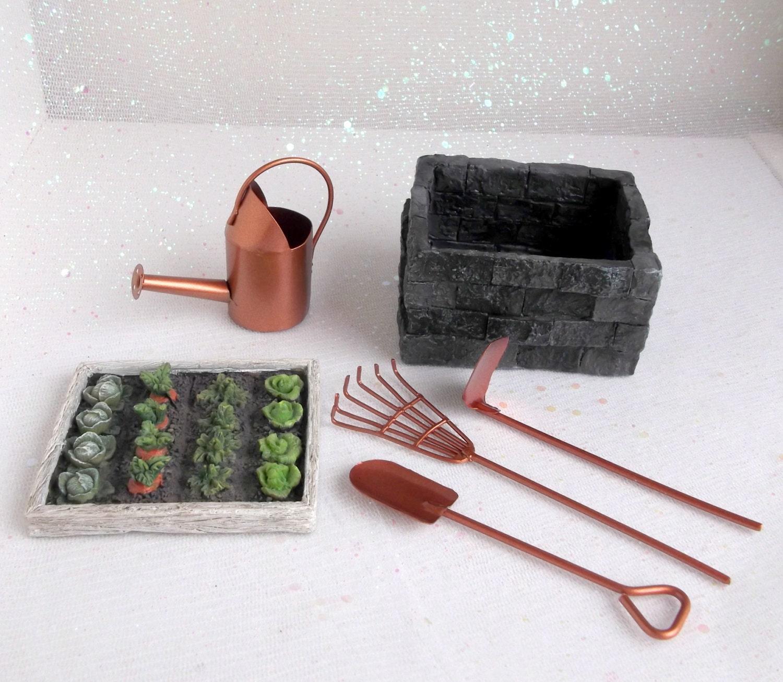 Fairy garden tools miniature gardening tools fairy garden for Miniature garden tools