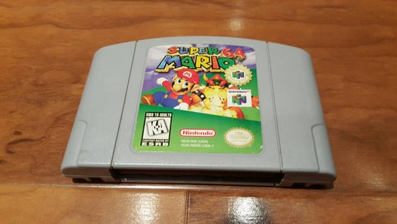 Super mario 64 nintendo 64 console system game by retrogamezone - Super nintendo 64 console ...