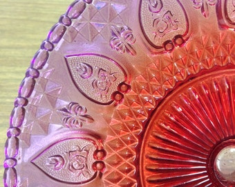 Very Nice Red and Purple Cake Plate