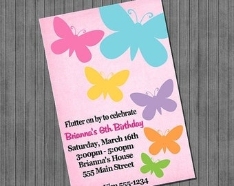65% OFF SALE Butterfly Invitation