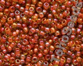 10g Toho Seeds Beads 11/0 Inside Color  Jonquil Hyacinth Lined TR-11-303 Rocailles size 11 orange yellow mini rocailles