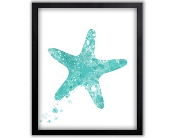 Starfish Wall Art, Watercolor Wall Art, Starfish Painting, Limited Edition Art Print - NS13002P
