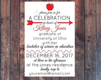 Printable Teacher Graduation Party Invitation