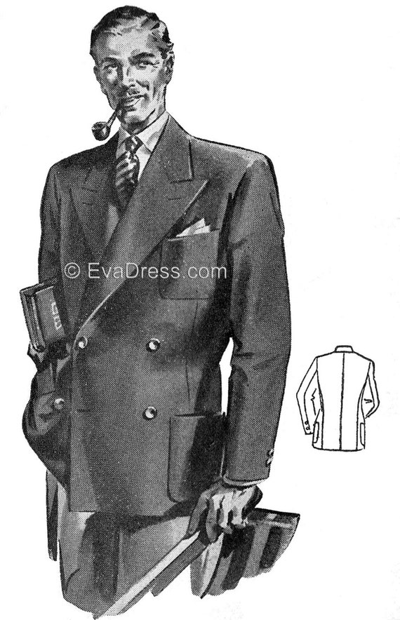 Men's Vintage Reproduction Sewing Patterns 1940s Mens Blazer Pattern by EvaDress1940s Mens Blazer Pattern by EvaDress $22.00 AT vintagedancer.com