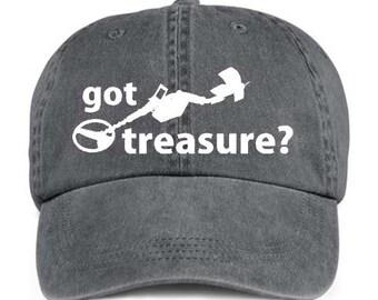 GOT TREASURE? Metal Detector Baseball Style Cap Hat