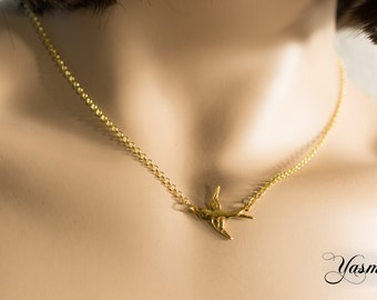 Swallow gold and silver gold plated