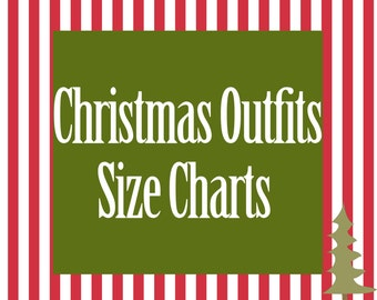 Christmas Outfit Size Charts