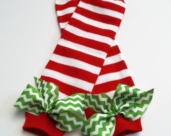 baby girl Christmas legwarmers - baby girl first christmas leg warmers - toddler christmas leg warmers - green and red leg warmers