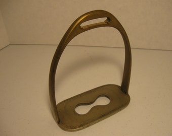 Vintage Nickel Silver Stirrup Horse Gear Riding Gear Equestrian Metal