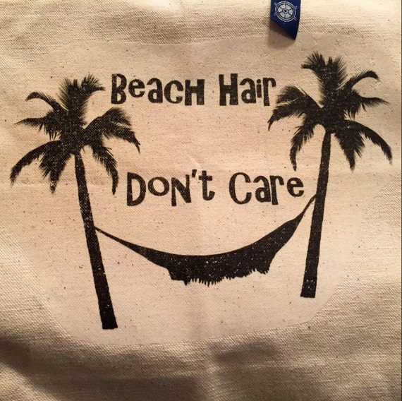 Beach Hair Don't Care Canvas Tote Bag