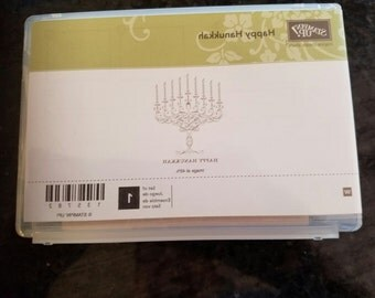 Stampin Up Happy Hanukkah Stamp/Rare/Retired