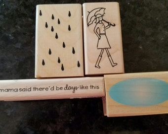 Girl in the Rain Stamp Set