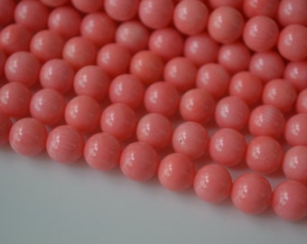 8mm pink coral,wholesale,full strand pink coral bead,15.75inch.hole 0.6mm.approx 50 beads,loose pink coral,pink round coral,Angel skin coral