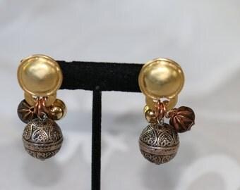 Unique Vintage Clip On earrings