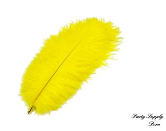50pcs yello  Ostrich Feather Plume for Wedding centerpieces  Samba accessories