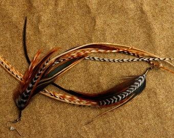 "Long Feather Earrings ""Papillon"""