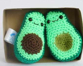 Vegan avocado, Crochet Avocado fruit buddy's, avocado decoration