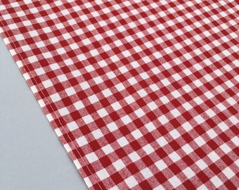 Red Gingham Table Runner: Accent Table Mat Or Runner Ideal For A Western,  Barnyard