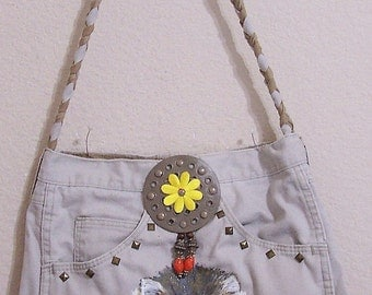 Cat --  Denim Handbag -- Item Number 1251 -- 16 Pockets