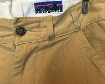 RARE Vintage Patagonia Double Fronted Hiking Pants W 32 L 32 // 1970's Patagonia 100% Cotton Mountaineering Slacks Reinforced