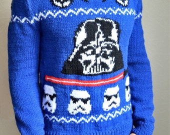 Hand knitted men's ''Star Wars'' sweater