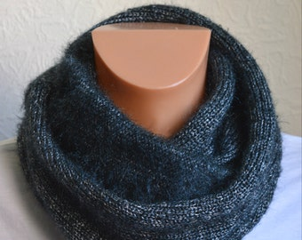 Hand knitted men's snood scarf