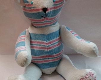 Keepsake Teddy Bear, Puppy or Bunny from Hospital Blanket