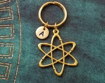 Atom Keychain SMALL Atom Keyring Chemistry Keychain Atomic Keychain Scientist Keychain Physics Keychain Molecule Keychain Physicist Science
