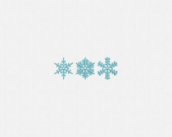 "1.5"" Mini Snowflake Machine Embroidery Design - 3 Designs by 1 Size"