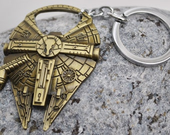 Star Wars Millennium Falcon Keyring Keychain Bottle Opener Steampunk look! 3 finishes available!