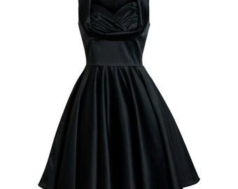 Black Dress Gothic Dress Goth Wedding Dress Prom Dress Party Dress Lolita Dress Swing Dress Pin Up Dress 50s Retro Dress Plus Size Dress