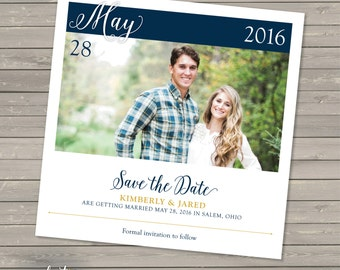 Calendar Square Wedding Save the Date | Add Your Own Photo