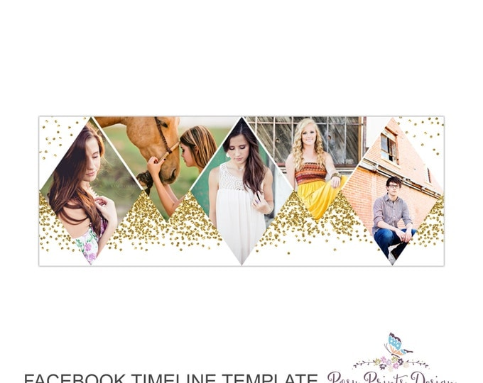 Facebook Timeline Cover Photoshop Template - FBT07