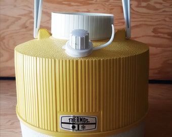 Vintage Thermos Water Jug - Bright Yellow Thermos Water Cooler -One Gallon Size.