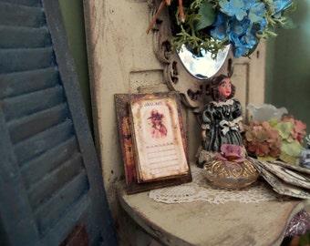 Former calendar miniature Dollhouse scale 1:12