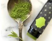 Matcha Bergamot Vegan Natural Lip Balm All Natural EO Matcha Green Tea 100% Natural hand made