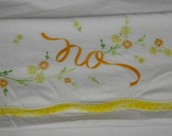 Monogramed Crocheted Pillow Case...CUTE...Pillow Case...Reduced