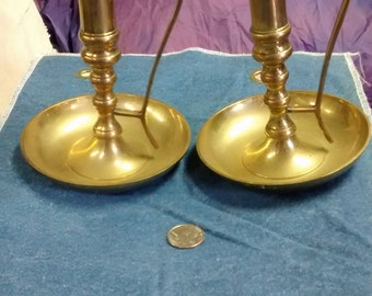 2 Solid Brass Candle Stick Holders