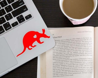 SUMMER SALE! Aardvark w/ Heart Car Laptop Vinyl Decal Sticker