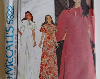 Vintage 1970's McCall's 5322 Sewing Pattern Marlo's Corner Mini Midi Maxi Dress Tunic Top Pants Trousers Culotte